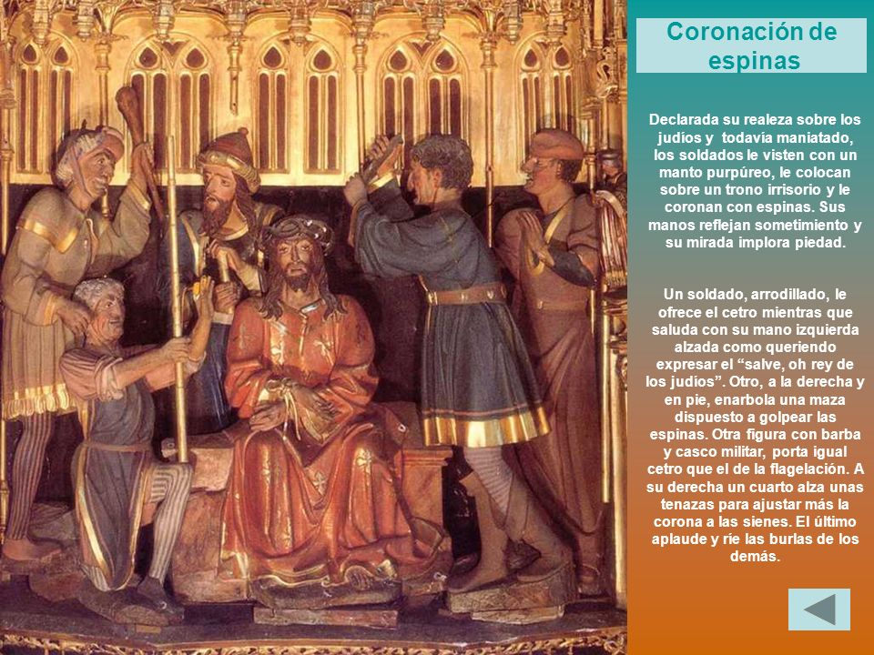 Coronación de espinas.