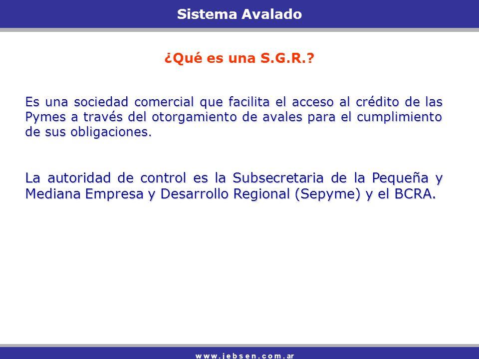 Sistema Avalado ¿Qué es una S.G.R.
