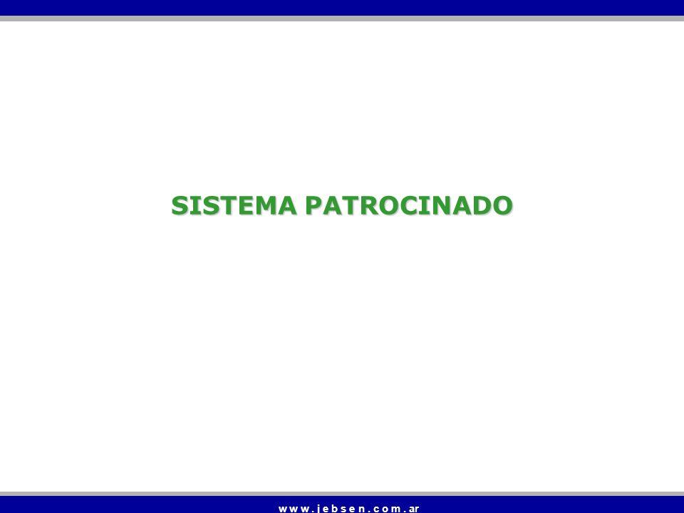 SISTEMA PATROCINADO w w w . j e b s e n . c o m . ar