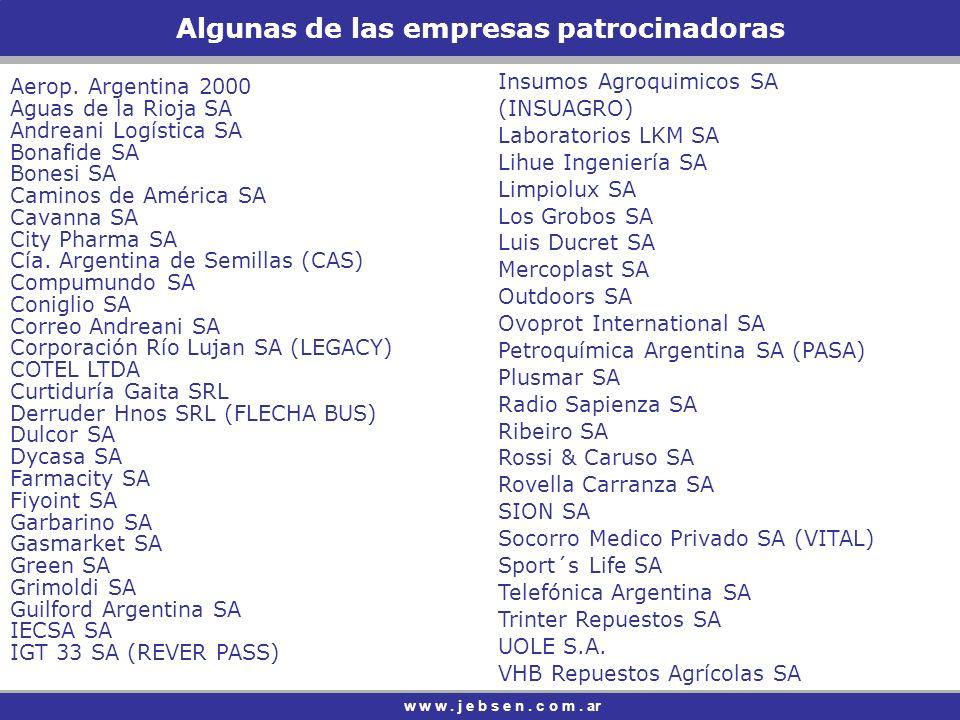 Algunas de las empresas patrocinadoras
