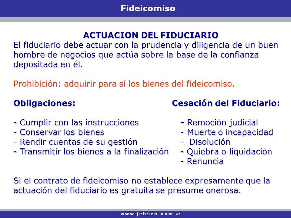ACTUACION DEL FIDUCIARIO
