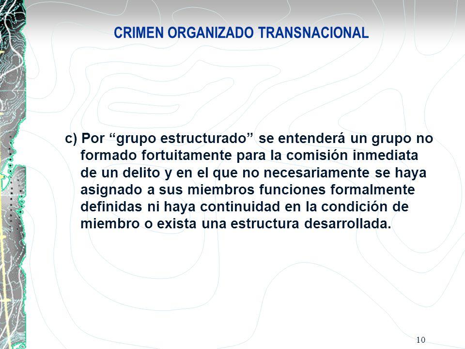CRIMEN ORGANIZADO TRANSNACIONAL
