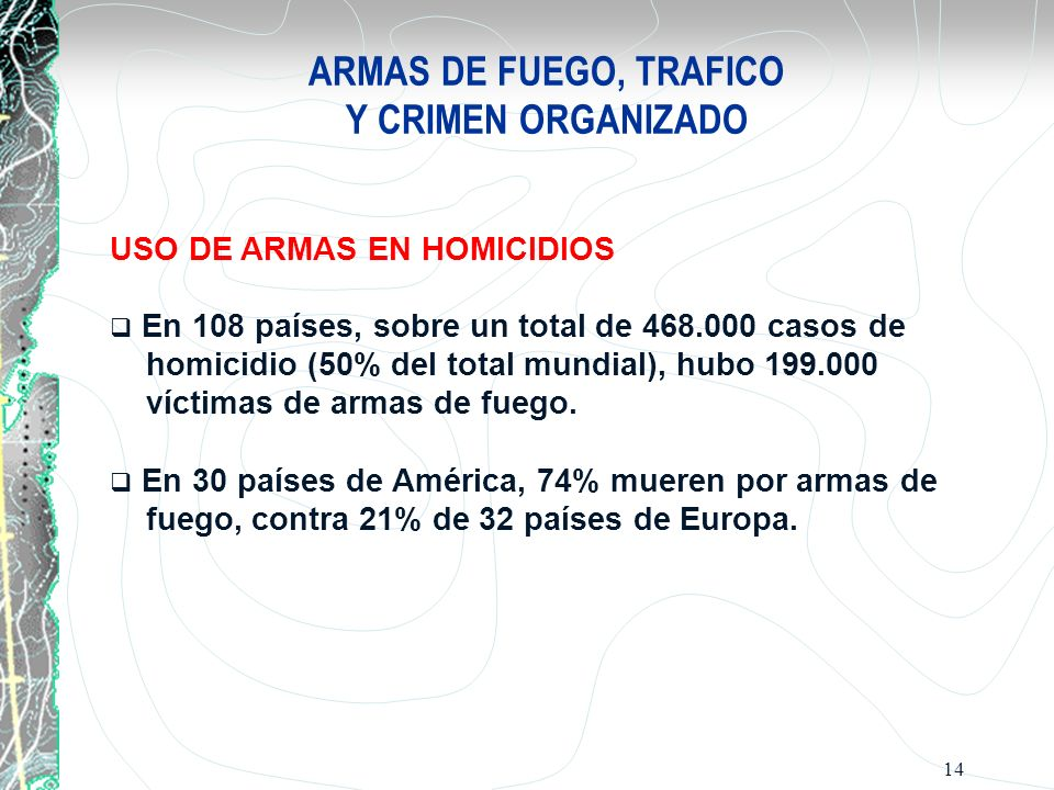 ARMAS DE FUEGO, TRAFICO Y CRIMEN ORGANIZADO