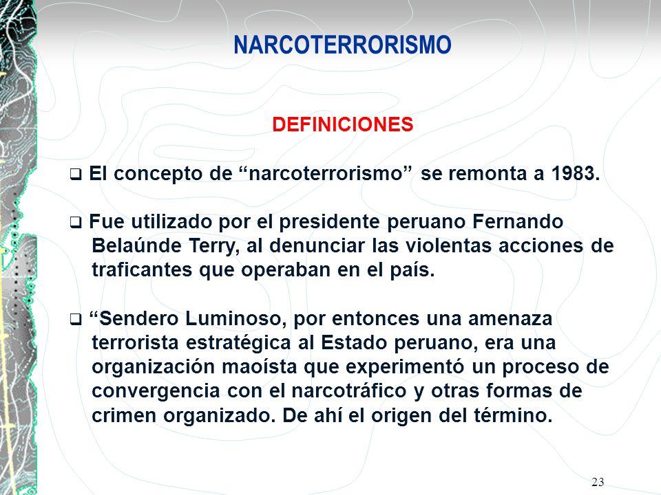 NARCOTERRORISMO DEFINICIONES