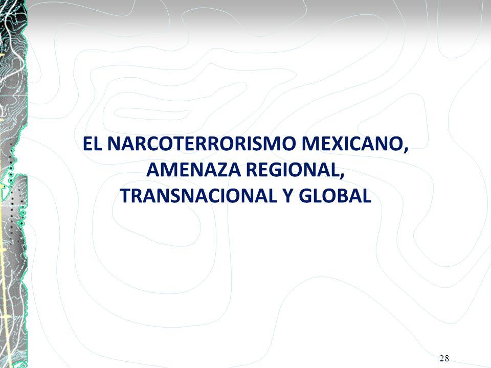 EL NARCOTERRORISMO MEXICANO, AMENAZA REGIONAL, TRANSNACIONAL Y GLOBAL