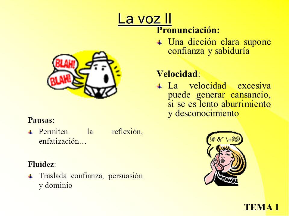 La voz II Pronunciación: