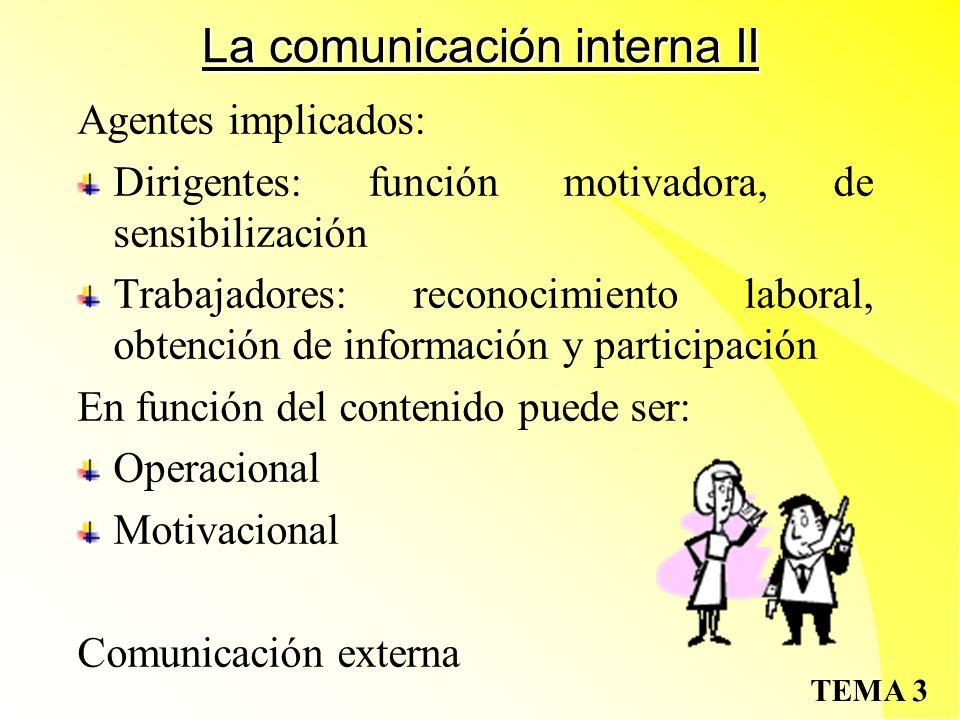 La comunicación interna II