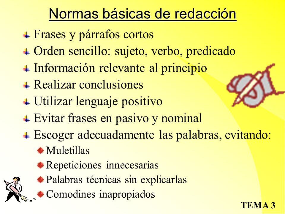 Normas básicas de redacción