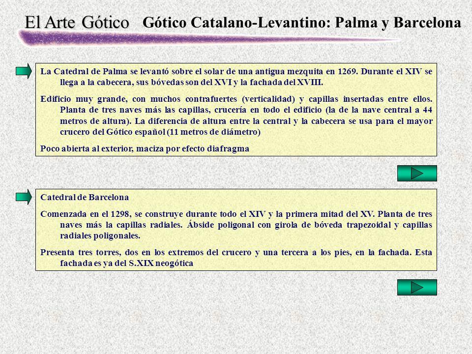 Gótico Catalano-Levantino: Palma y Barcelona