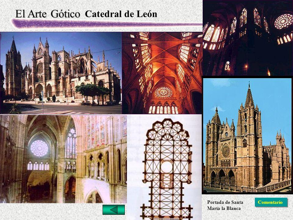 Catedral de León Portada de Santa María la Blanca Comentario