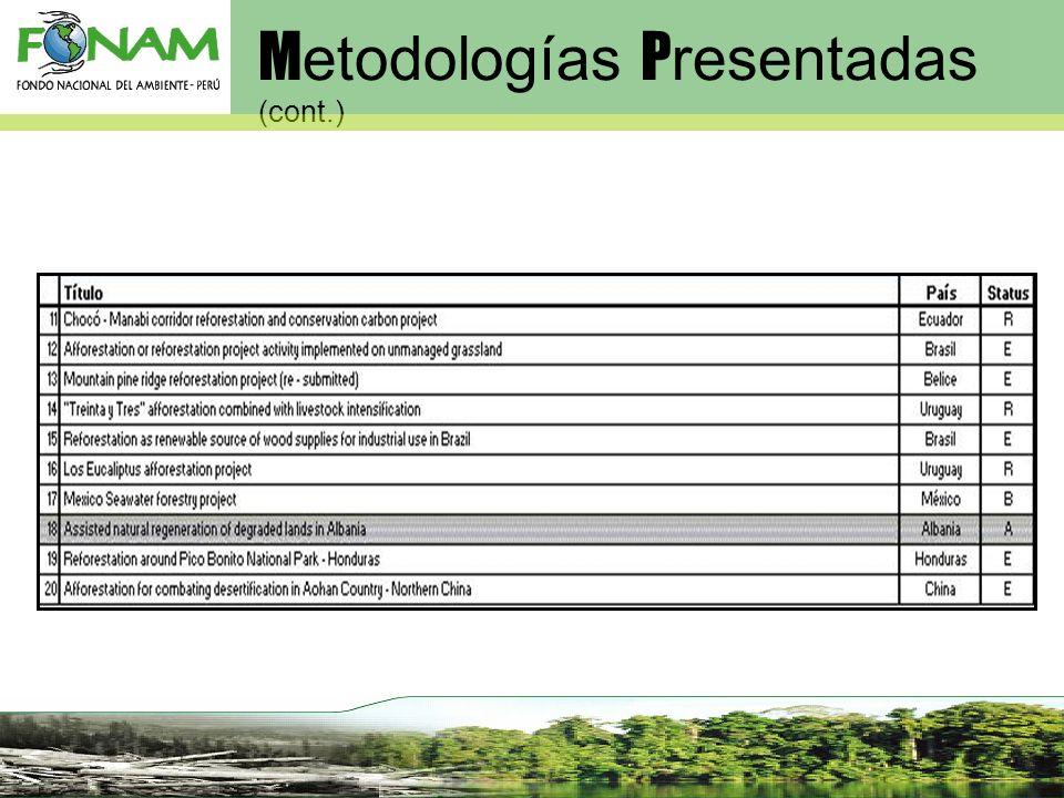 Metodologías Presentadas (cont.)