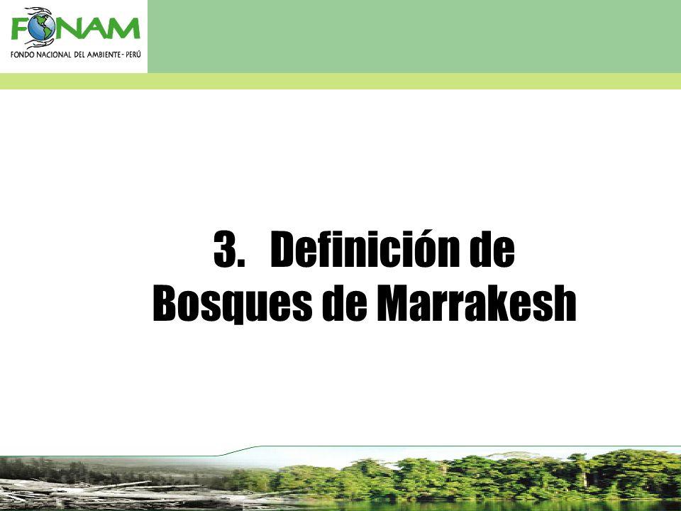 3. Definición de Bosques de Marrakesh