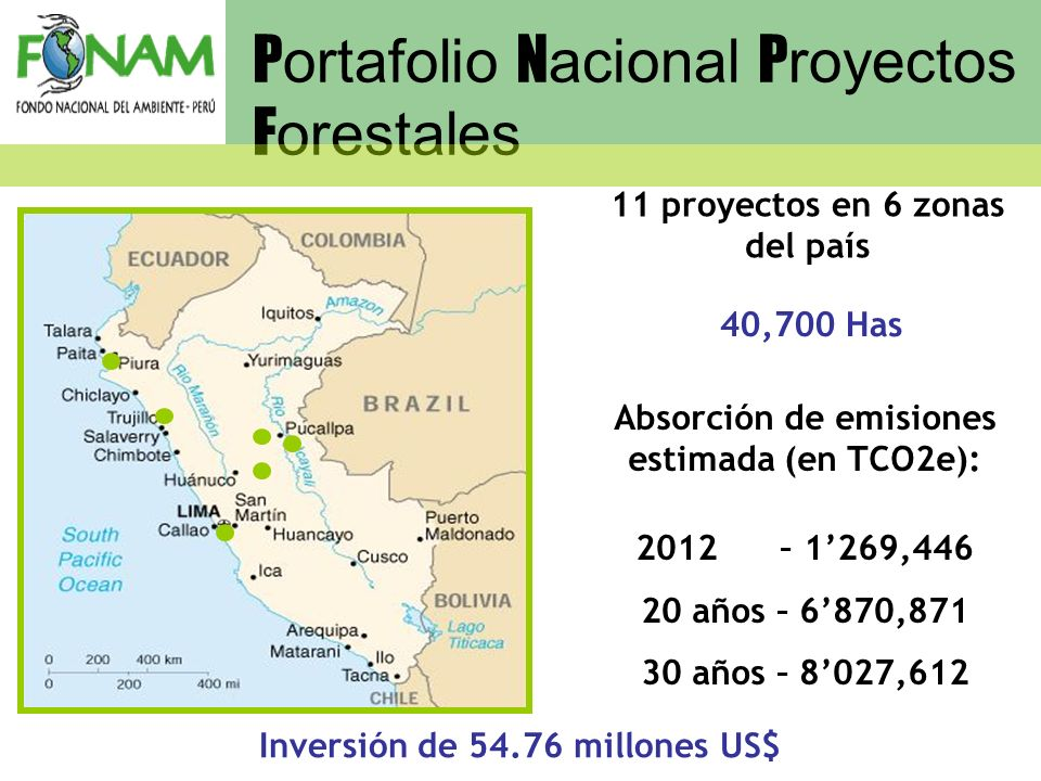 Portafolio Nacional Proyectos Forestales