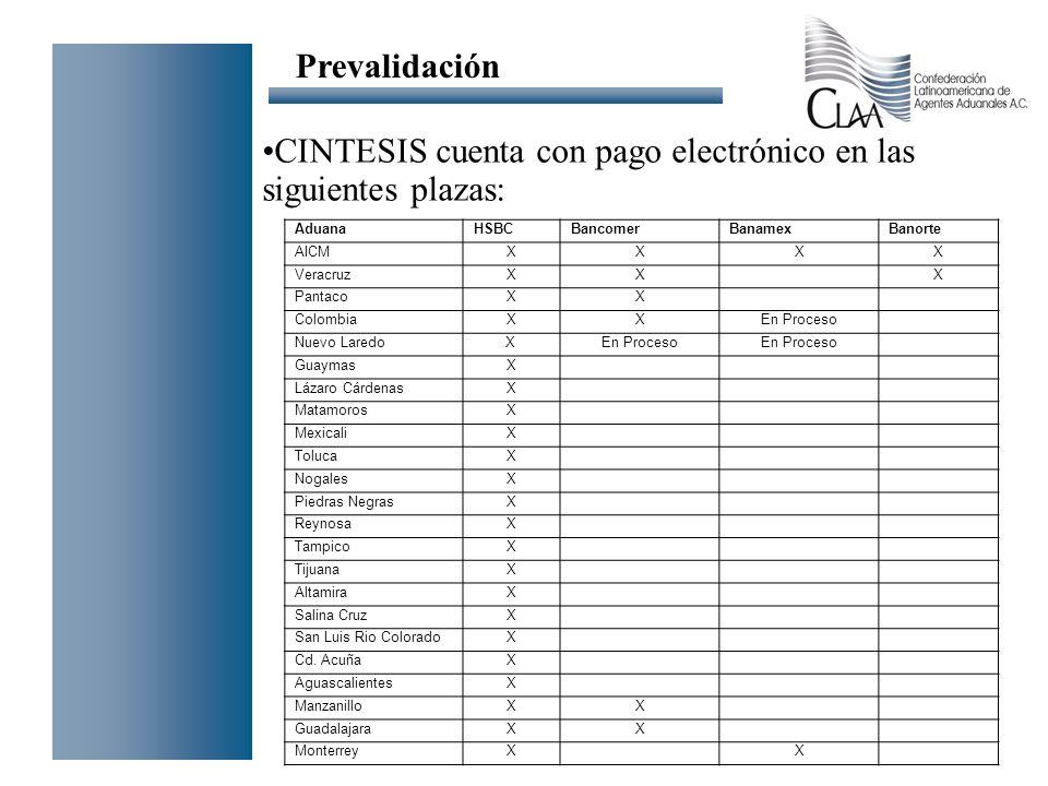 CINTESIS cuenta con pago electrónico en las siguientes plazas: