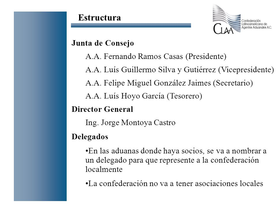 Estructura Junta de Consejo A.A. Fernando Ramos Casas (Presidente)