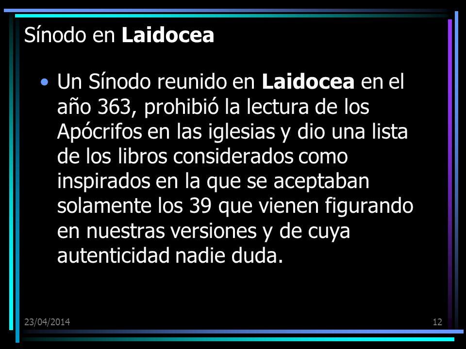 Sínodo en Laidocea