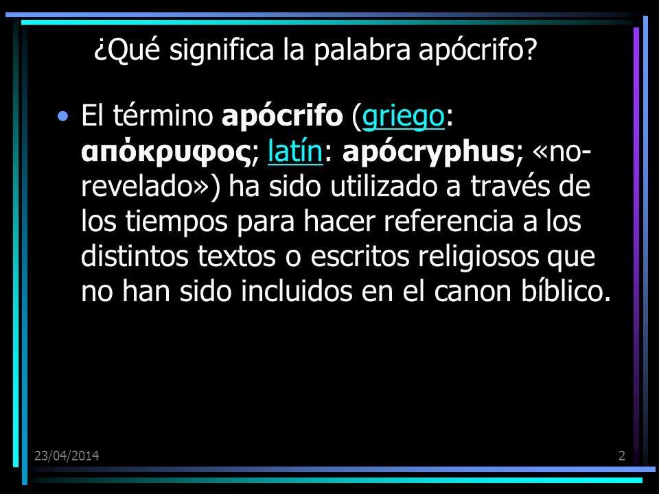 ¿Qué significa la palabra apócrifo