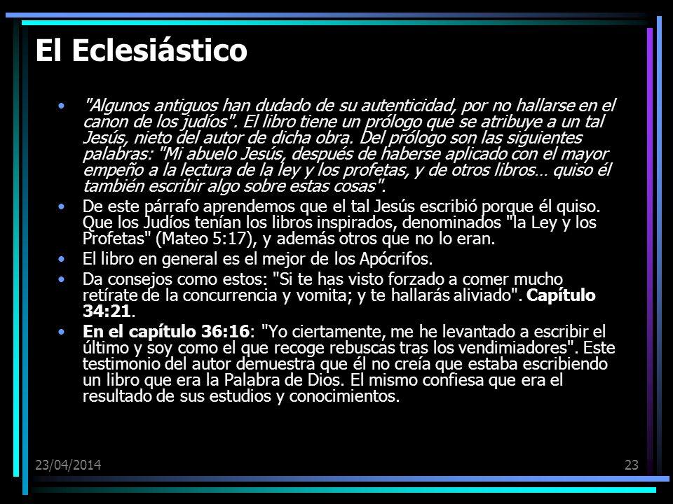 El Eclesiástico