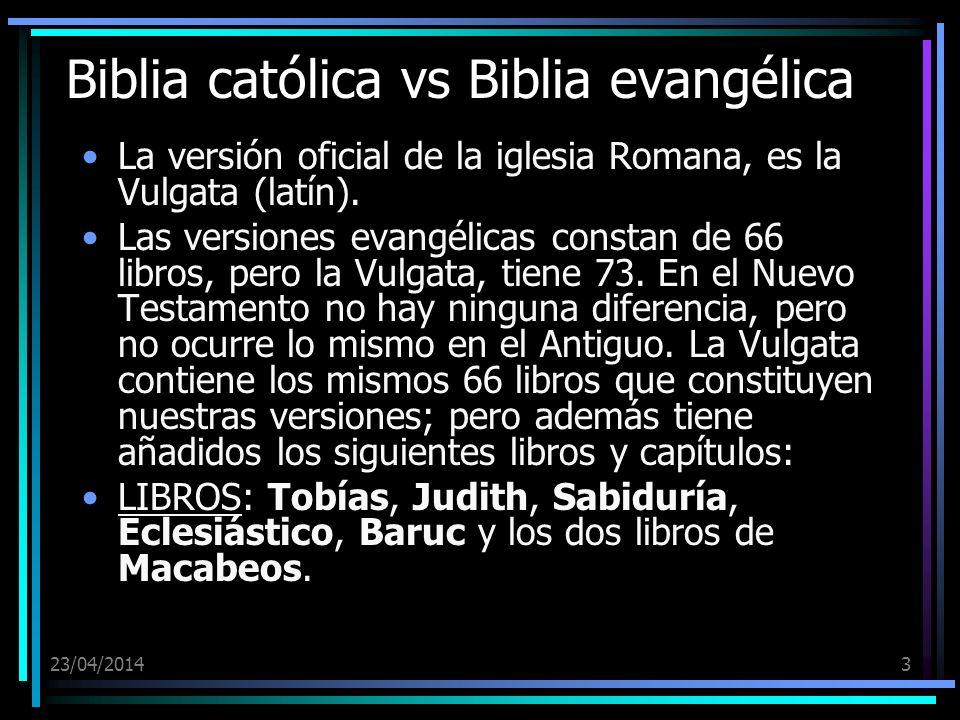 Biblia católica vs Biblia evangélica