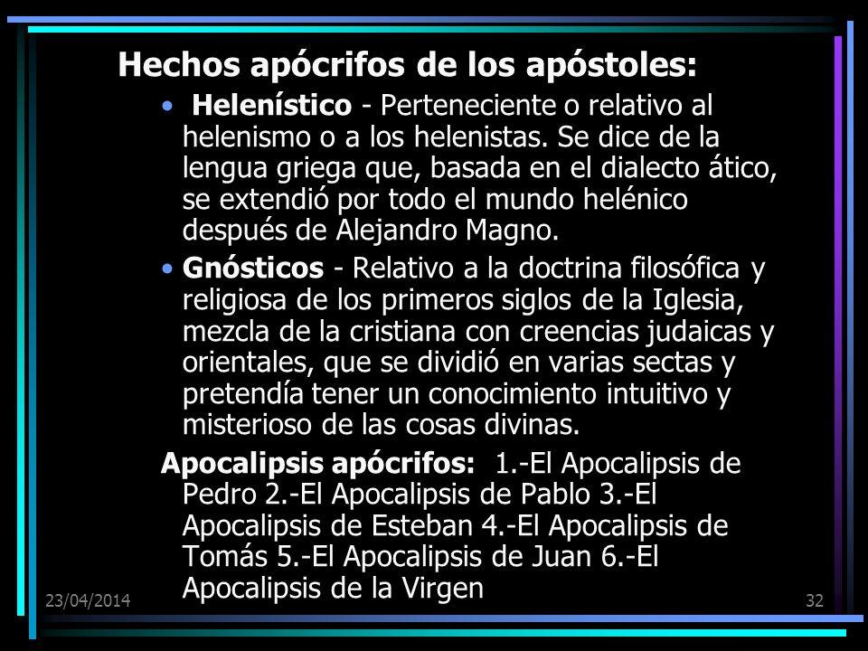Hechos apócrifos de los apóstoles: