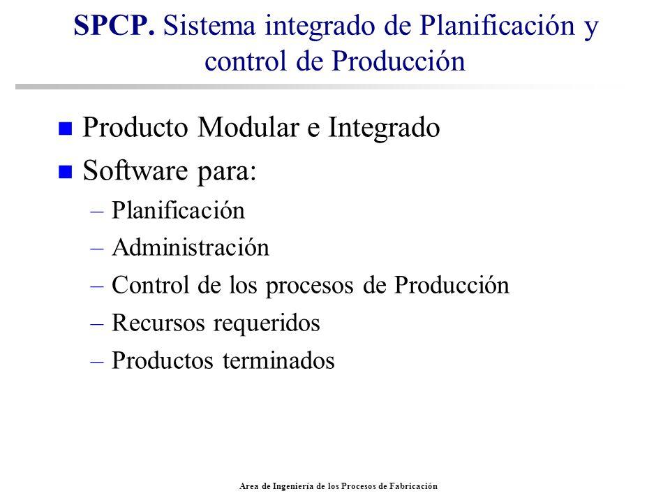 SPCP. Sistema integrado de Planificación y control de Producción