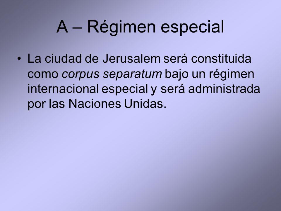 A – Régimen especial