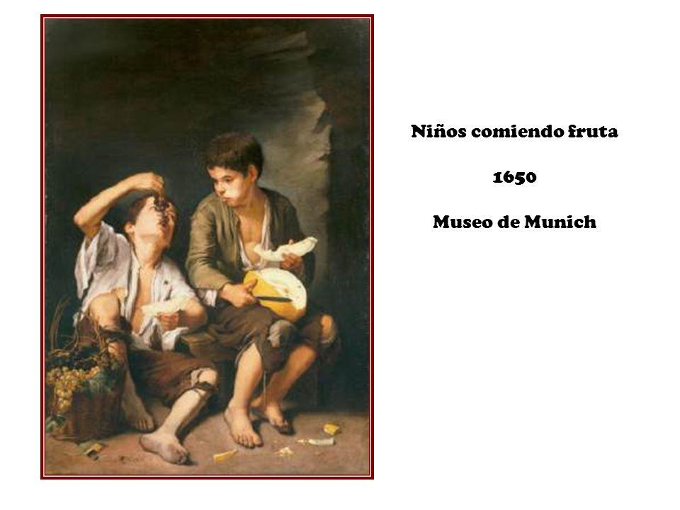 Niños comiendo fruta 1650 Museo de Munich