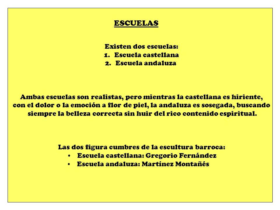 ESCUELAS Existen dos escuelas: Escuela castellana Escuela andaluza