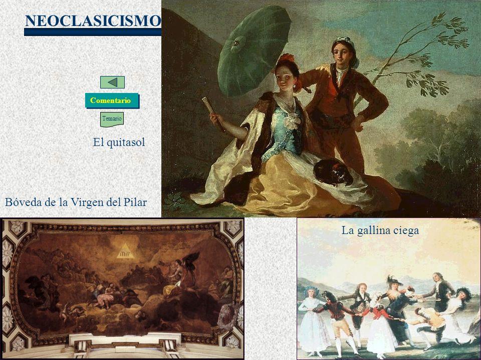 Goya El quitasol Bóveda de la Virgen del Pilar La gallina ciega