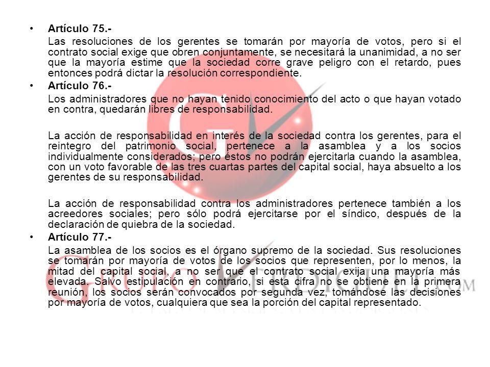 Artículo 75.-