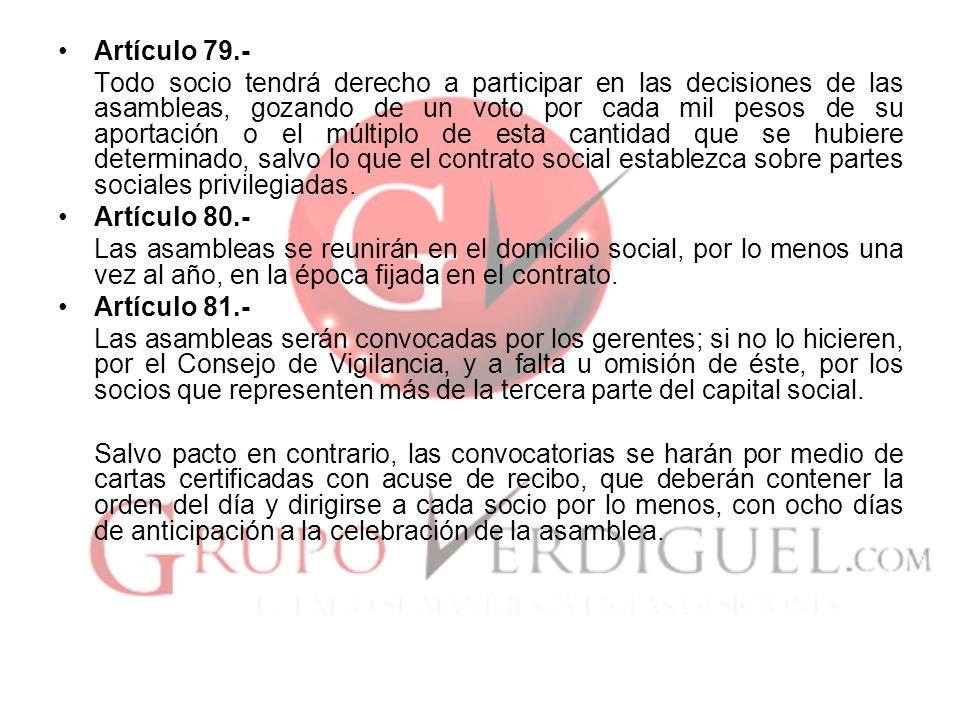 Artículo 79.-