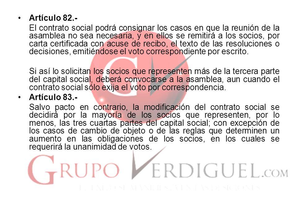Artículo 82.-