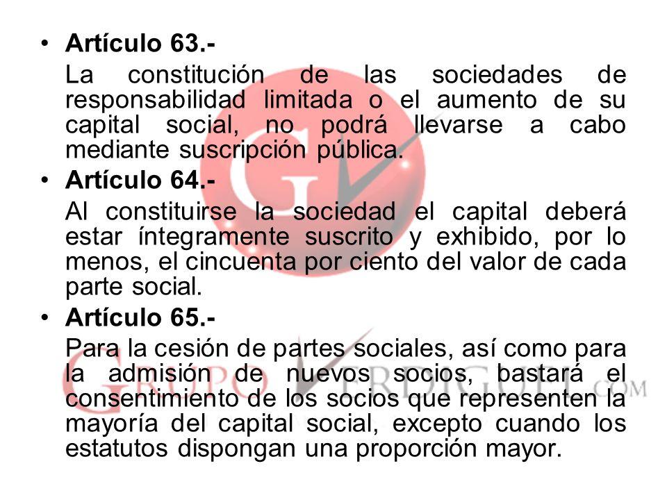 Artículo 63.-