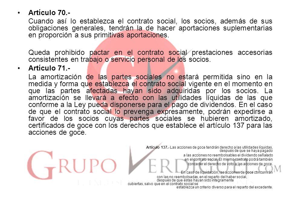 Artículo 70.-