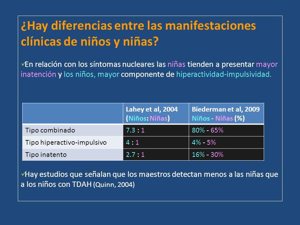 ¿Hay diferencias entre las manifestaciones clínicas de niños y niñas