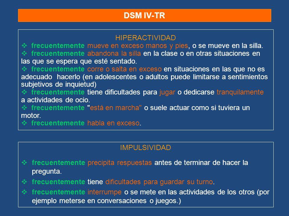 DSM IV-TR HIPERACTIVIDAD