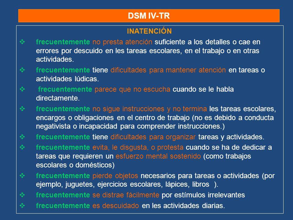 DSM IV-TRINATENCIÓN.