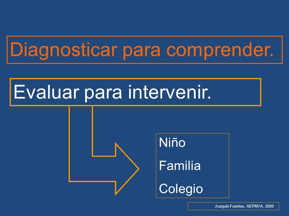 Diagnosticar para comprender.
