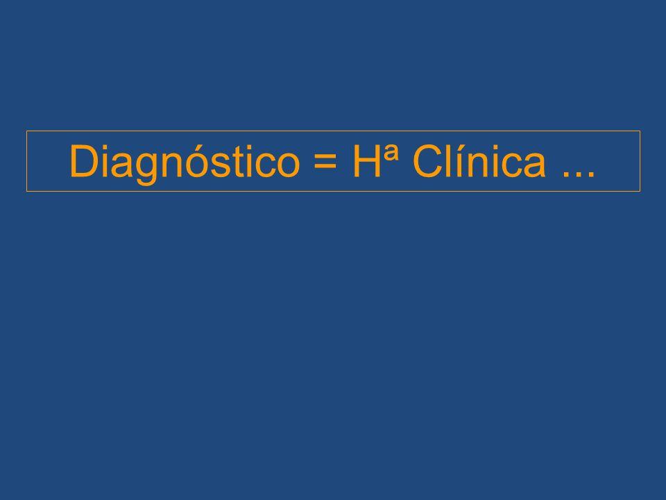 Diagnóstico = Hª Clínica ...