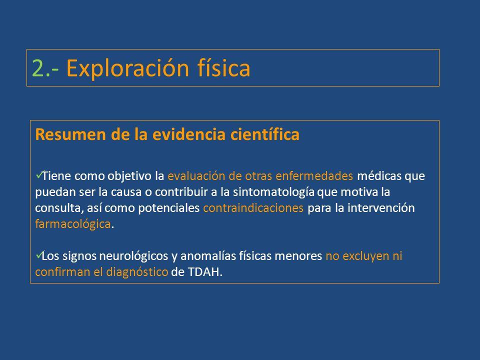 2.- Exploración física Resumen de la evidencia científica