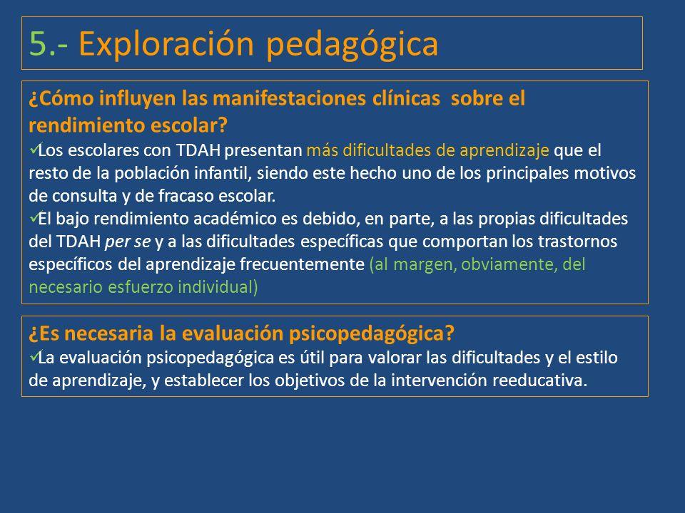 5.- Exploración pedagógica