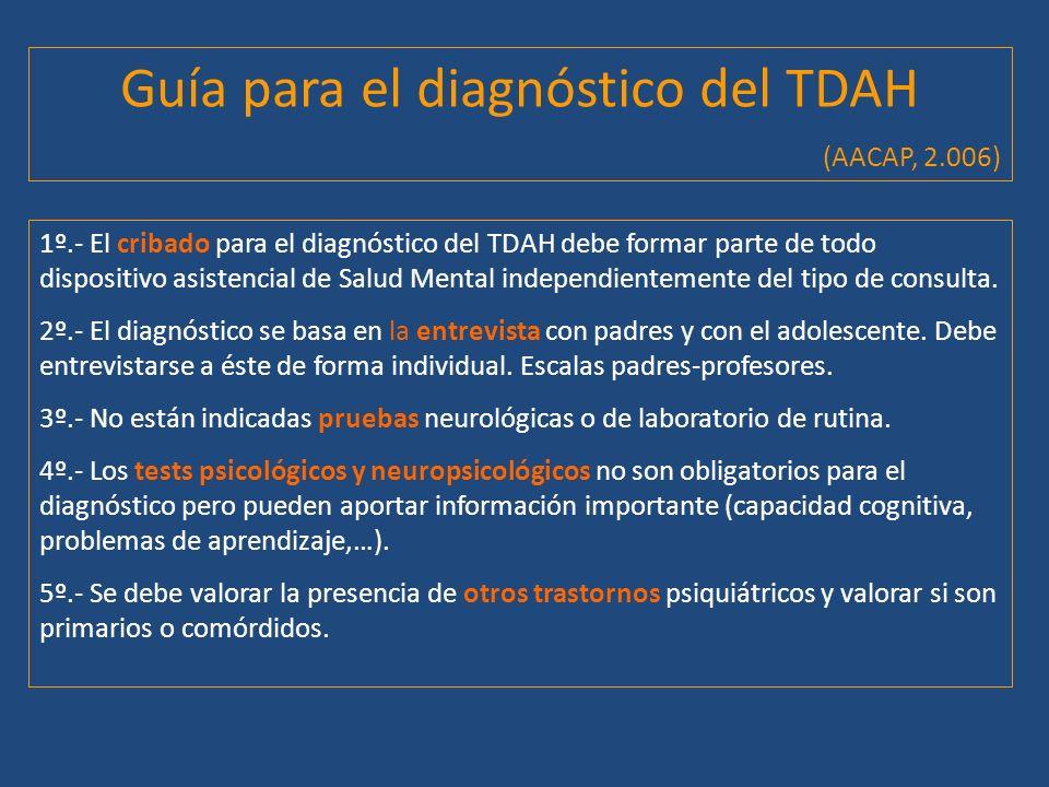 Guía para el diagnóstico del TDAH