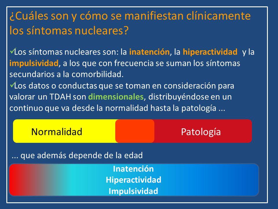 ¿Cuáles son y cómo se manifiestan clínicamente los síntomas nucleares