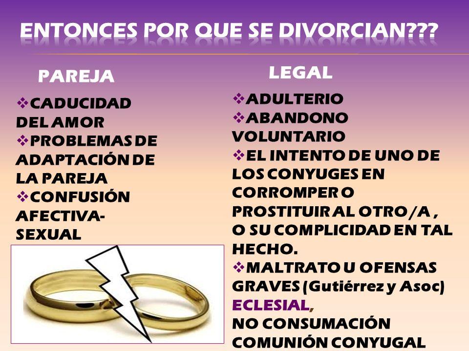 ENTONCES POR QUE SE DIVORCIAN