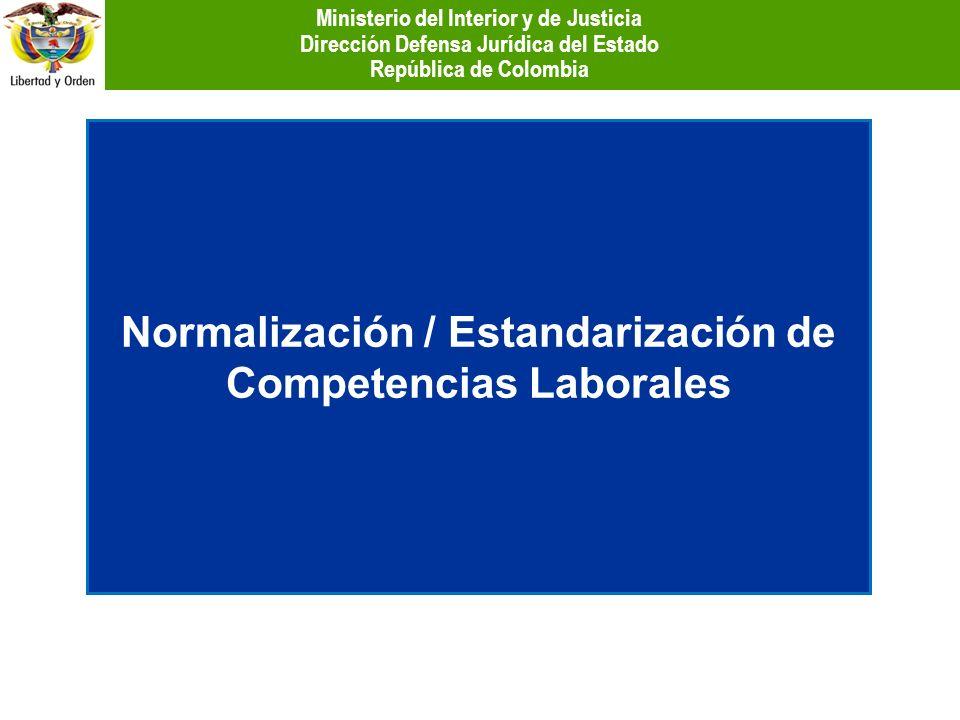 Normalización / Estandarización de Competencias Laborales