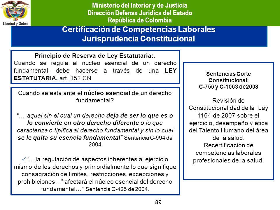Certificación de Competencias Laborales Jurisprudencia Constitucional