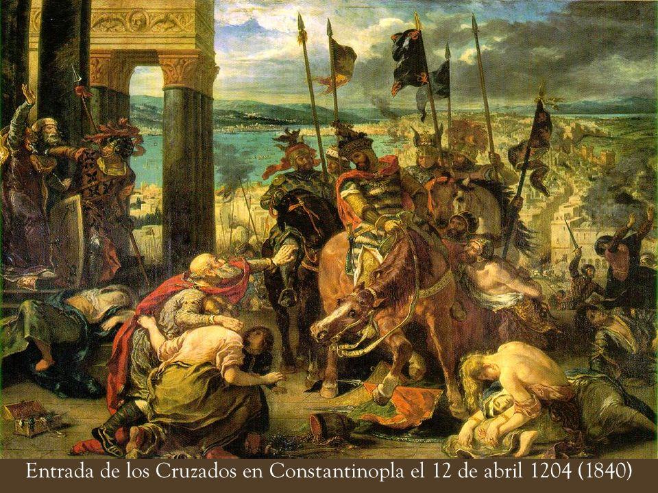 Entrada de los Cruzados en Constantinopla el 12 de abril 1204 (1840)