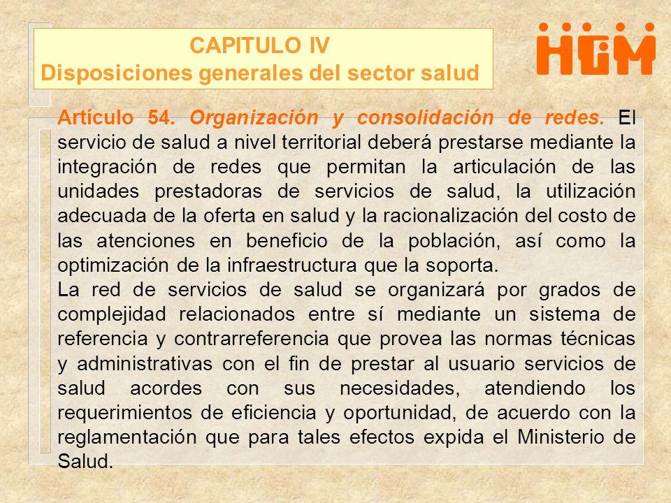 Disposiciones generales del sector salud