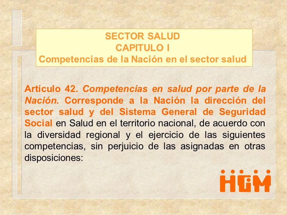 Competencias de la Nación en el sector salud