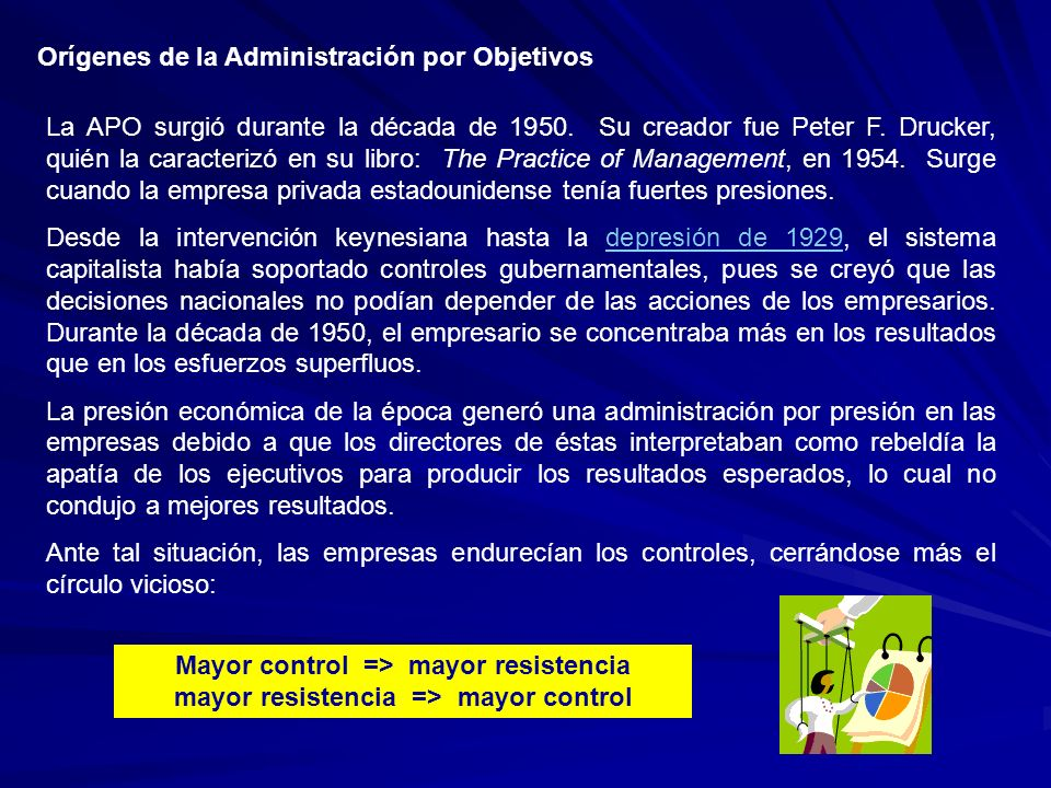 Orígenes de la Administración por Objetivos